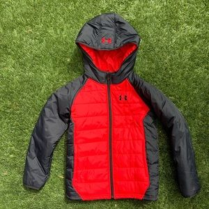 Under Armour   black and red boys puffer jacket
